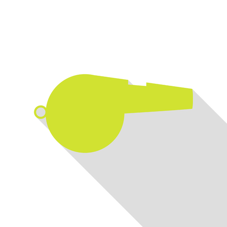 Whistle sign. Pear icon with flat style shadow path.