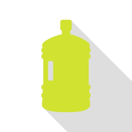 Plastic bottle silhouette sign. Pear icon with flat style shadow path.