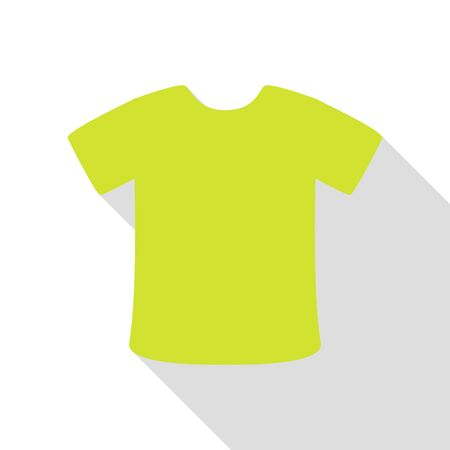 office wear: T-shirt sign. Pear icon with flat style shadow path.