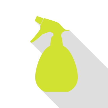 Spray bottle for cleaning sign. Pear icon with flat style shadow path.