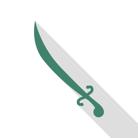 roman soldier: Sword sign illustration. Veridian icon with flat style shadow path.
