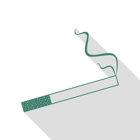 Smoke icon great for any use. Veridian icon with flat style shadow path.