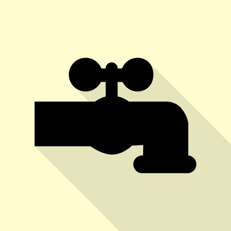 watertap: Water faucet sign illustration.