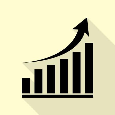 Growing graph sign. Иллюстрация