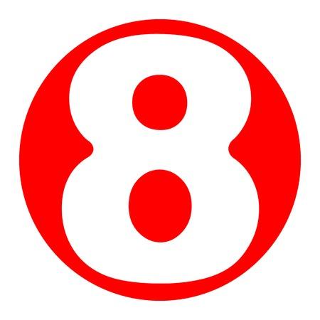 Number 8 sign design template element.