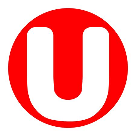 Letter U sign design template element.