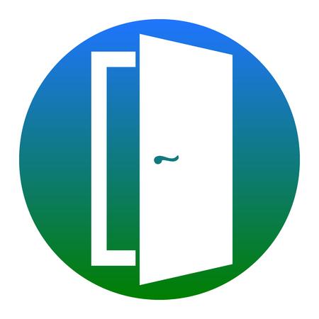 doorknob: Door sign illustration. Vector. Isolated.