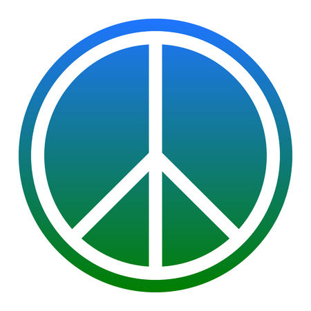 the sixties: Peace sign illustration. Vector. Isolated.