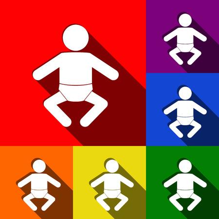 Baby sign illustration.
