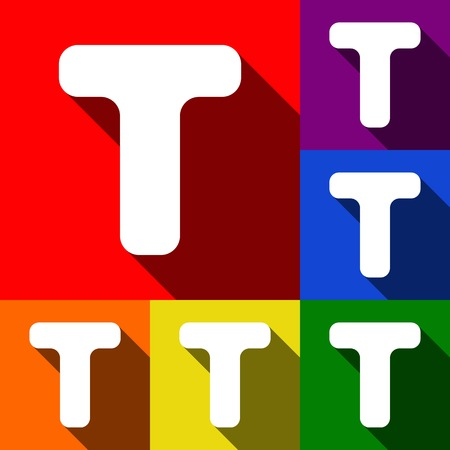 Letter T sign design template element.