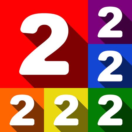 Number 2 sign design template elements.