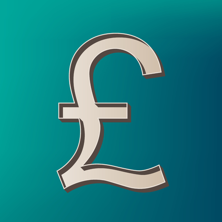 Turkish lira sign. Vector. Icon printed at 3d on sea color background. Illustration
