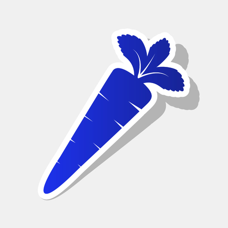 ilustración de signo de zanahoria . icono de vector de 100 años con gran trazo y luz gris sobre fondo gris claro .