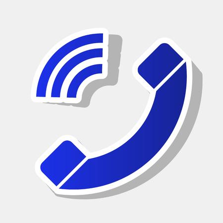 ilustración de signo de teléfono. icono . el año nuevo símbolo con el tráfico y la luz del gas en el fondo gris claro .