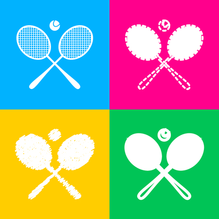 Tennis rackets silhouette Illustration
