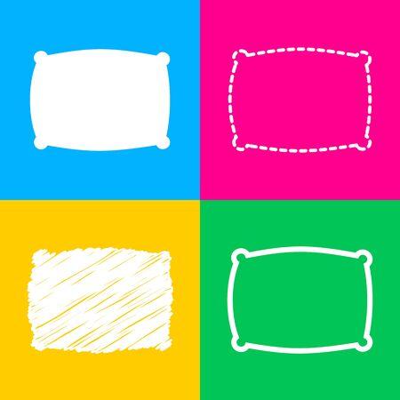 spongy: Pillow sign illustration. Flat style black icon on white. Illustration