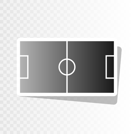 soccer field: Soccer field. Vector. New year blackish icon on transparent background with transition.