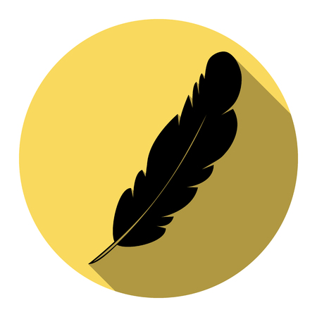 Feather sign illustration.