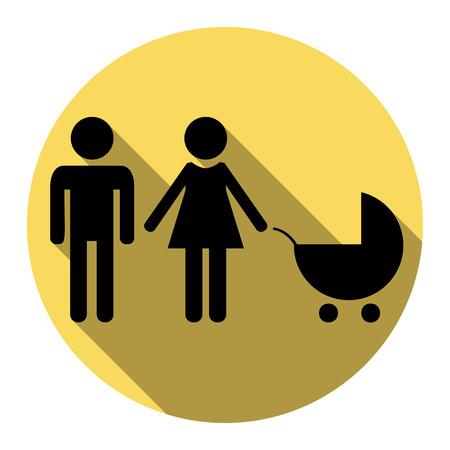 Family sign illustration.