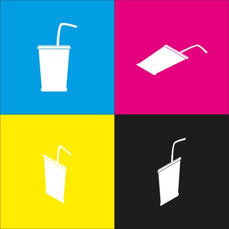 Drink sign illustration.