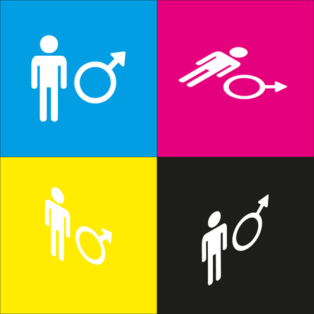 andropause: Male sign illustration.