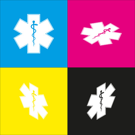 Medical symbol of the Emergency or Star of Life.