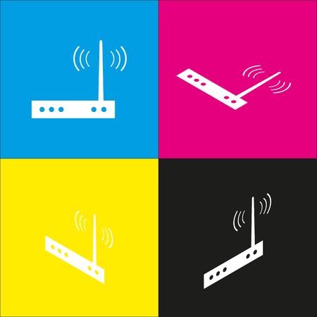 Wifi modem sign.