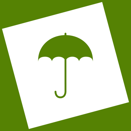 Umbrella sign icon. Rain protection symbol. Flat design style. Vector.