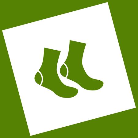 Socks sign. Vector.