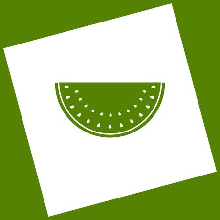 Watermelon sign. Vector.