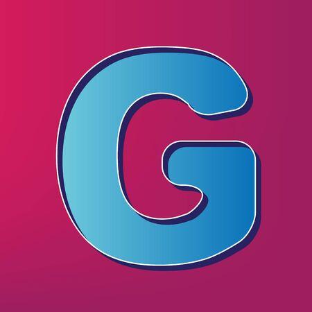 Letter g sign design template element vector blue 3d printed letter g sign design template element vector blue 3d printed icon on magenta background maxwellsz