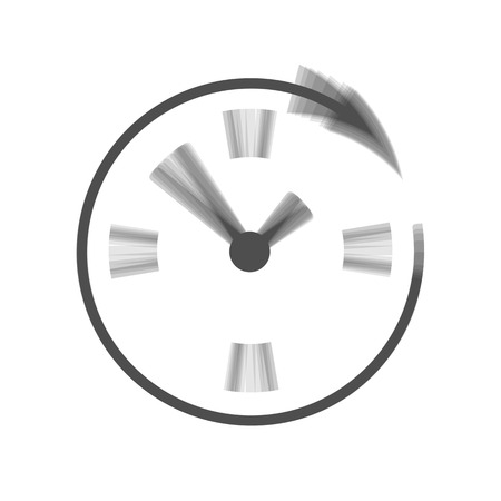 not open: Service and support for customers around the clock and 24 hours. Vector. Gray icon shaked at white background.
