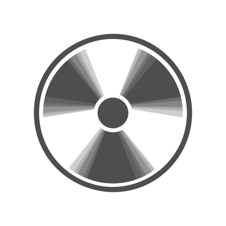 Radiation Round sign. Vector. Gray icon shaked at white background.