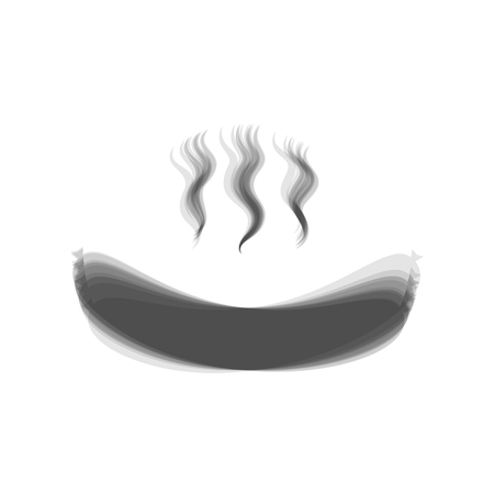 Sausage simple sign. Vector. Gray icon shaked at white background.
