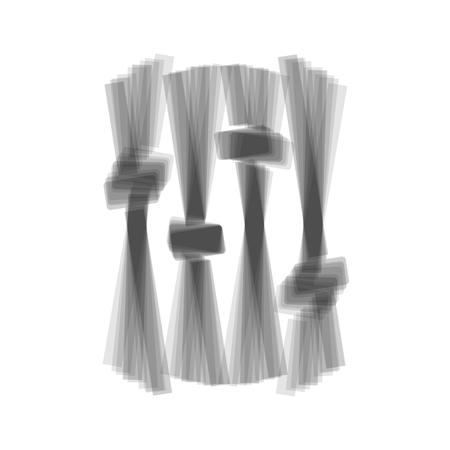 adjustment: Adjustment music line sign. Vector. Gray icon shaked at white background. Illustration