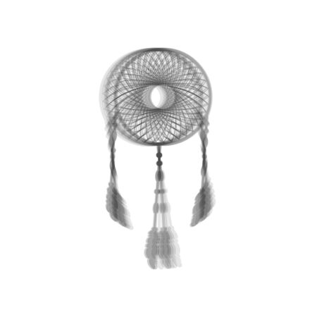 swelled: Dream catcher sign. Vector. Gray icon shaked at white background.