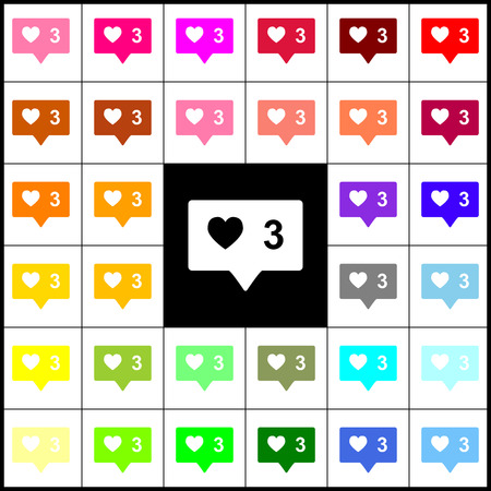 feedback link: Like and comment sign. Vector. Felt-pen 33 colorful icons at white and black backgrounds. Colorfull. Illustration