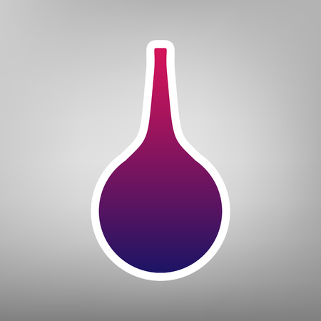 Enema sign. Vector. Purple gradient icon on white paper at gray background.