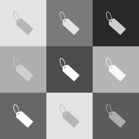 pictograph: Tag sign illustration. Vector. Grayscale version of Popart-style icon. Illustration