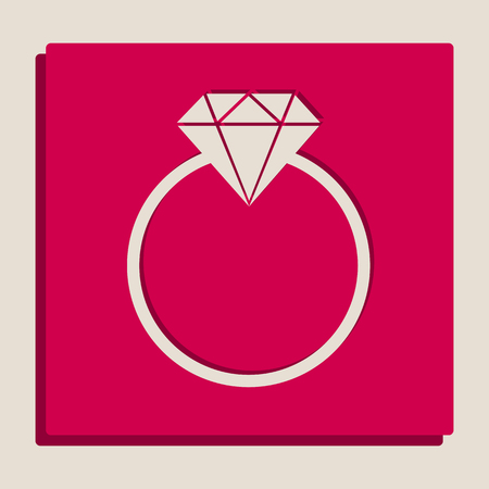 Diamond sign illustration. Vector. Grayscale version of Popart-style icon.