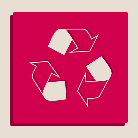 Recycle sign concept. Vector. Grayscale version of Popart-style icon.