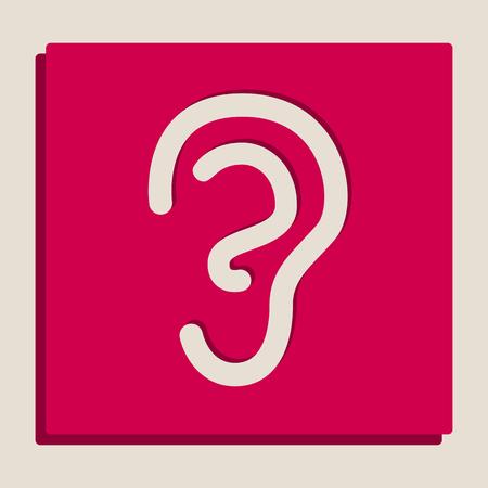 Signe oreille d & # 39 ; insecte humain . sourire à la recherche de niveaux de gris de l Banque d'images - 80129633