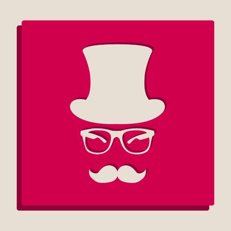 Conception d'accessoires Hipster. Vecteur. Version en niveaux de gris de l'icône Popart.