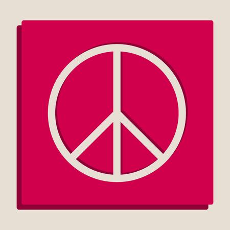 Illustrazione di segno di pace. Vettore. Versione in scala di grigi dell'icona di stile di Popart.