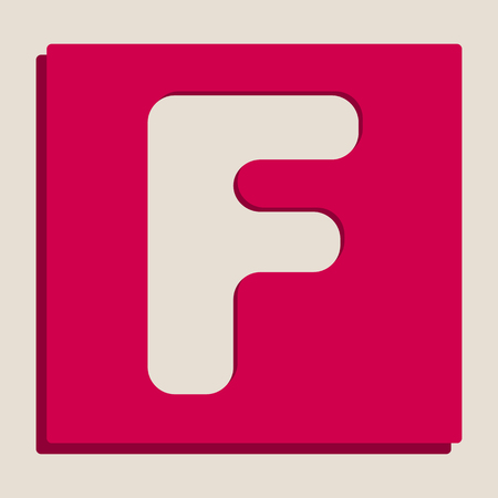 alphabetic character: Letter F sign design template element. Vector. Grayscale version of Popart-style icon.