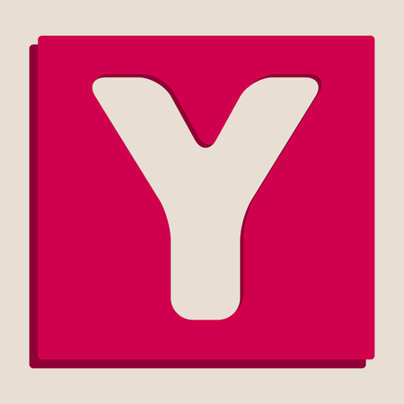 alphabetic character: Letter Y sign design template element. Vector. Grayscale version of Popart-style icon.