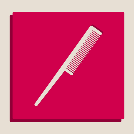 haircutting: Comb sign. Vector. Grayscale version of Popart-style icon.