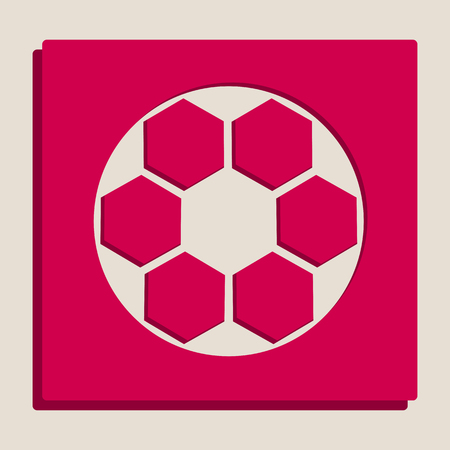 soccer goal: Soccer ball sign. Vector. Grayscale version of Popart-style icon. Illustration