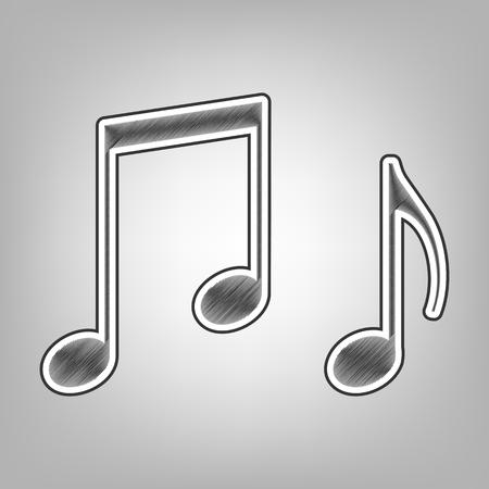 Signo De Clave De Violín De Música G Clef Y Notas G H