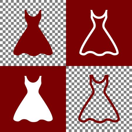 Vector snowflake white dress
